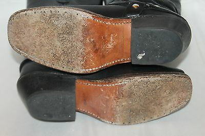DOUBLE H Boot Company Black Leather Harness Square Toe Western Cowboy Boots 6.5 8