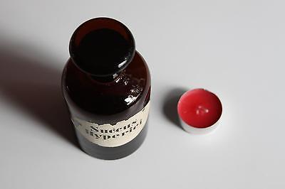Apothekerflasche, Form selten, rund, alt, SUCCUS HYPERICI, SCHLIFF STOPFEN