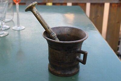Antiker Biedermeier Mörser mit Pistill