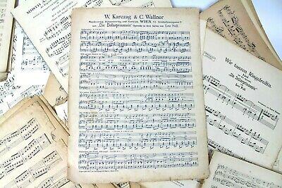 ~~100g OF VINTAGE MUSIC SHEETS - CHRISTMAS CRAFTS. DECOUPAGE CARD MAKING 4