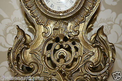 ANTIQUE CLOCK Louis XV French Bronze Gilt Ormolu H51cm Tall/Large Ornate/Rococo 8