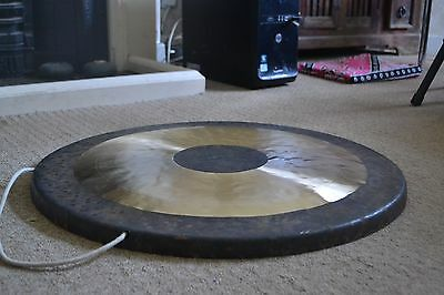 """24/"""" or 38/"""" Bronze handcrafted Chau Gong 18/"""" with mallet and bag Tam Tam"""