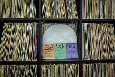 "50 LP Inner Sleeves Anti Static Round Bottom 33 rpm 12"" Vinyl Record Album 7"