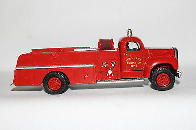 DEHANES MODELS, 1950'S B Model Mack Cornwall Fire Truck with Box, 1/55 Scale