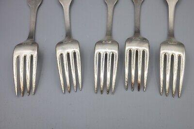 """Hans Hansen Susanne Sterling Silver Dinner Fork, Denmark – 7 1/8"""" – Set of 5 4"""