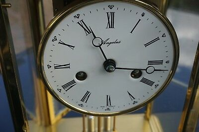A Large Four glass mantel carriage clock by Angelus 7