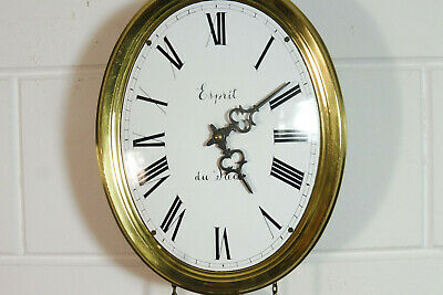 Comtoise Wall Clock Dutch Movement Vintage Old Clock 8