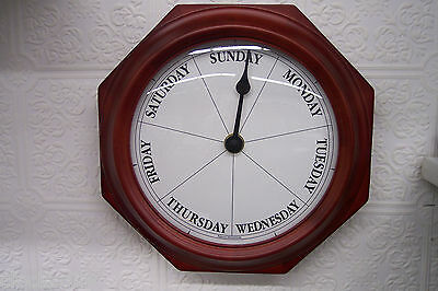 DAYCLOCK Mahogany 7 Day of Week Clock Date Retirement DAYCLOCKS  RV - 2