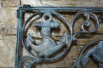 2 Cast Iron NAUTICAL ANCHOR Brackets Garden Braces Shelf Bracket PIRATES SHIP 3