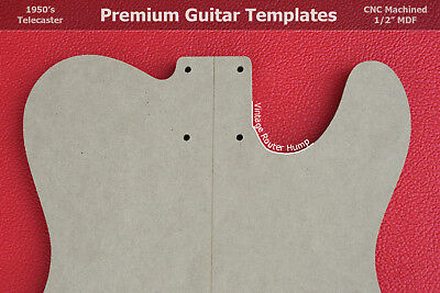 Telecaster Guitar Router Template Set Body Wvintage Router Hump Cnc