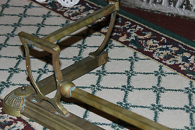 "Antique Fireplace Fender Surround Skirt-Copper & Brass-52"" Long-Arts & Crafts 6"