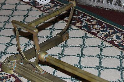 "Antique Fireplace Fender Surround Skirt-Copper & Brass-52"" Long-Arts & Crafts 6"