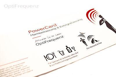 PowerCard - Wasser & Nahrungsmittel Harmonisierung/Energetisierung OptiFrequenz 2