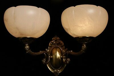 Alabaster wall lights sconces solid  double arms bronze by europeanlighting 9