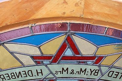 Arched Top Antique Victorian Stained Glass Window Architectural Salvage Church 10