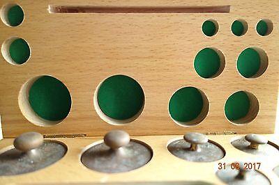 Feingewichte Satz von 1g-200gr  in Holz Schatulle   E Eydam 4