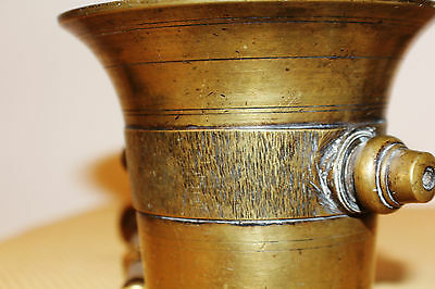 Mörser Schlegel Stössel antik Pistill Küche Pulver Deko Tabletten #6255 2