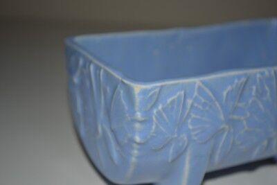 "Vintage McCoy Pottery Butterfly Blue Planter  Matte Blue 5 1/2"" 1930s 4"