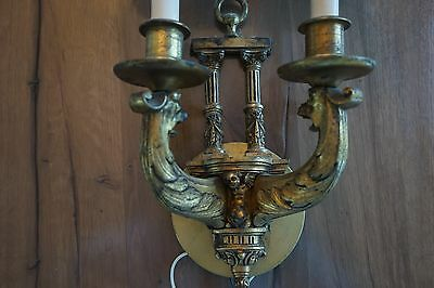 Conant Metal and Light of Vermont Real Brass Sconce 2