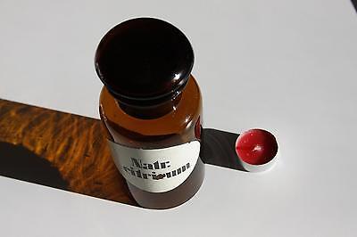 Apothekerflasche, Form selten, rund, alt, NATR. CITRICUM, SCHLIFF STOPFEN breite 2