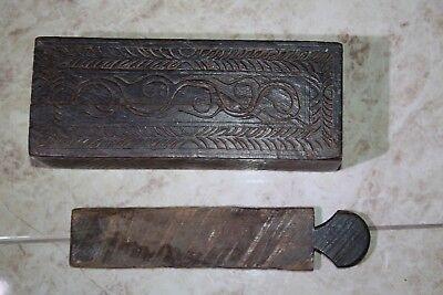 Antique India Rosewood Lidded Spice Box Samruddhi Keralan Museum Quality 1890's 6