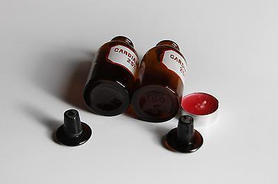 Apothekerflasche, Form selten, rund, alt, CARDIAMID. SCHLIFF STOPFEN