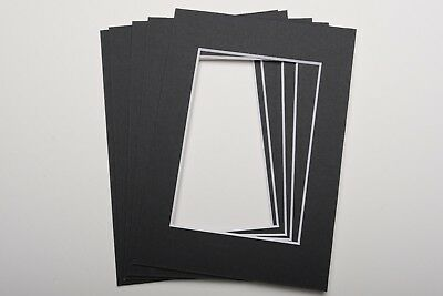 Pack Of 5 Photo Picture Mounts 5 X 7 Inch For 5 X 3.5 Print Choice Of Colours 7