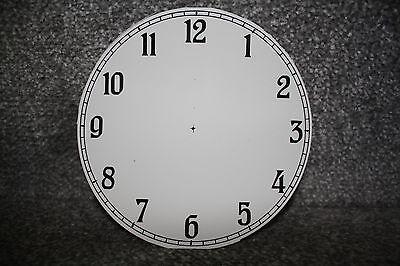 "Vintage 4"" clock face/dial Arabic numeral number restore/renovation wet transfer 3"