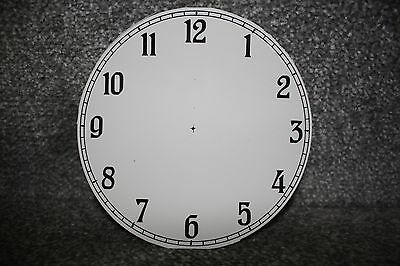 "Vintage 4"" clock face/dial Arabic numeral restore/renovation wet transfer system"