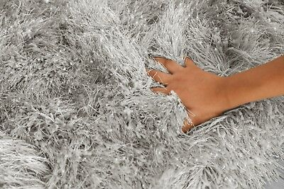 Modern Large Extra Thick 9cm High Pile SHAGGY Floor RUG with SPARKLE SHIMMER 10