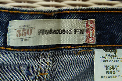 LEVI'S 550 Blue Jeans Kids' 11 Regular Relaxed Fit W25 L25 Levis Red Tab Denim 4