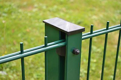 4 Stück Punktbefestigungsset Tor-//Eckpfosten grün Gittermattenzaun Gartenzaun