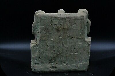 Unique EGYPTIAN ANTIQUE Priest Ptahmai Family Stela Relief Vintage made in egypt 3