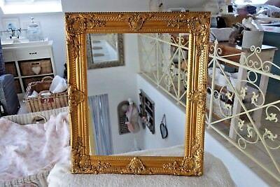 Großer Bilderrahmen Gemälde Foto Barock Rahmen Holz Gold 54x44 cm Antik Look NEU 2