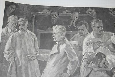 Seltene Litographie, Med Uni Wien, Autopsie Lehrsaal, um 1930 5