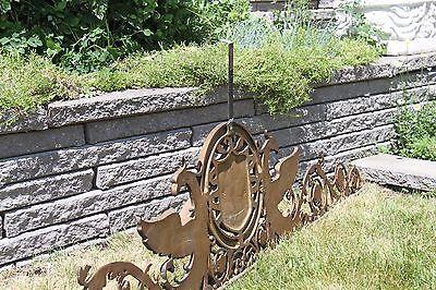 19C Solid Bronze Winged Griffin Fantasy/Mythological Architectural Pediment 11