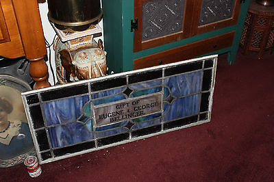 Antique Stained Glass Leaded Church Window-Religious-Eugene Bellinger-LARGE 5