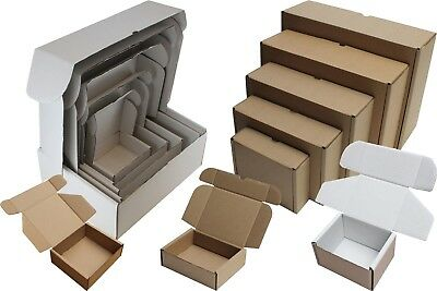 White Or Brown Shipping Cardboard Boxes Postal Mailing Gift Packet Small Parcel 2