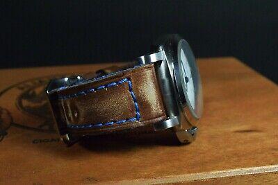 Correa Reloj Genuino Cuero Vintage Apta Panerai Etc Ma Strap Colorum Marron Azul 5