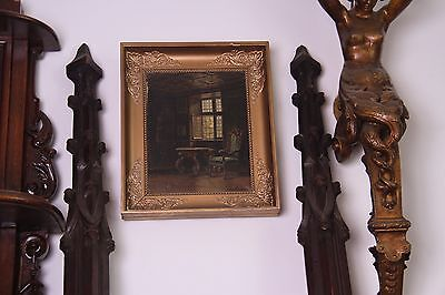 19C French Carved Oak Gothic Columns 2