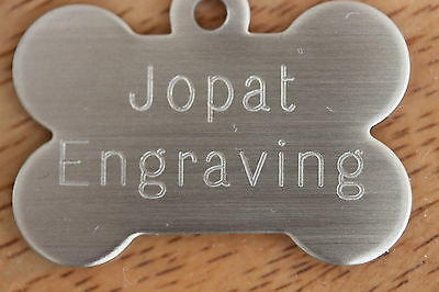 Stainless Steel pet ID Tag Dog Kitten Puppy Cat Name Tags Personalised Engraved 2
