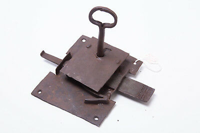 Antique Vintage Extremely Rare Door Mortice Key Lock Gate Collectable Forged 6