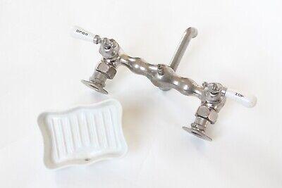 antique faucet kitchen sink | empire vtg mixing faucet victorian plumbing deco 9