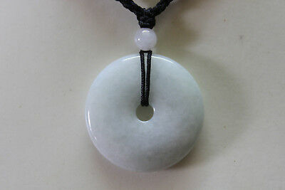 Genuine Natural Jadeite (Grade A) Untreated JADE Circle Donut Pendant #P1099 5