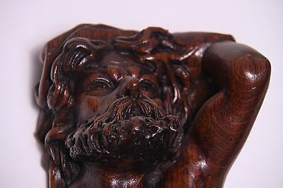 19C Italian Carved Walnut Classic Caryatid Wall Pilasters Architectural Element 10