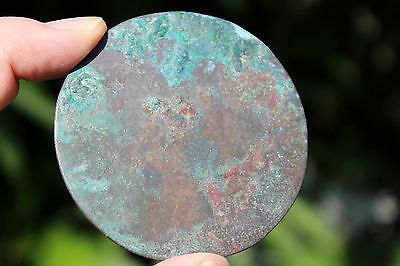 Islamic bronze mirror with Arabic ornaments, 700-800 AD, 6.5 cm 11
