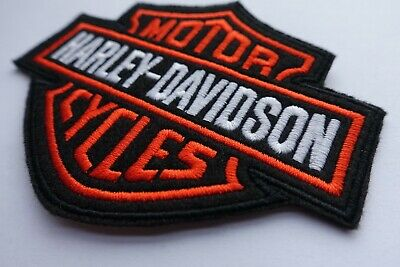 Harley Davidson Classic Orange Logo Sew-on Patch (Small)  embroidery 2