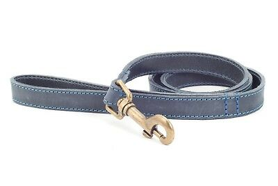 NEW ANCOL TIMBERWOLF LEATHER DOG COLLAR (SABLE or BLUE) with ENGRAVED ID TAG 5
