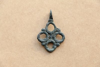 Beautiful RARE Viking Kievan RUS Pendant Cross 9-10 AD 6