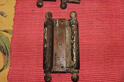 Antique Bommers Door Hinges-Pair-1800'S Patent Dates-Heavy Duty Door Hinges 2